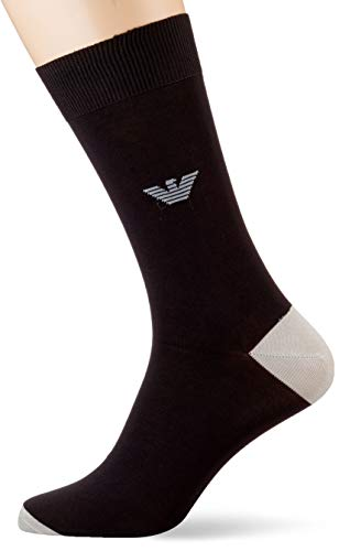 Emporio Armani Underwear Herren SUPER FINE Lisle Yarn Short Socken, Schwarz (Nero 00020), 43/44 (Herstellergröße: M)