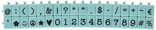 Contact USA Pegz Stempel-Set, verbindbare Symbole und Zahlen, Tiffany-Blau, M