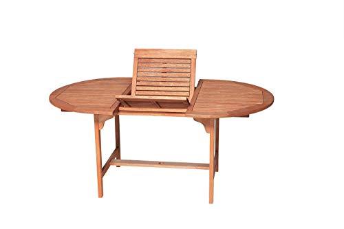 GXK Ausziehtisch Gartentisch Holztisch Gartenmöbel Tisch 170x100cm Holz