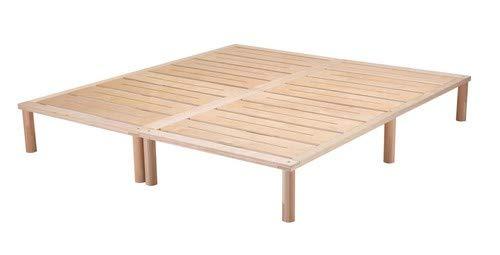 Gigapur G1 26998 Bett | Bettgestell mit Lattenrost | belastbar bis 195 kg je Element | Holzbett 180 x 200 cm best. aus 2 x 90 cm