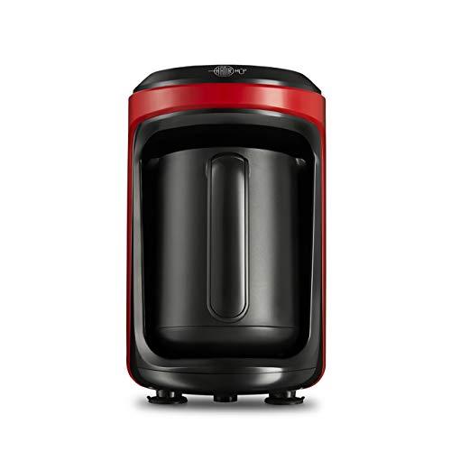 Karaca Hatir Hup Türkische Kaffeemaschine, Rot, Fur 5 Personen, 535W, Kaffeevollautomat
