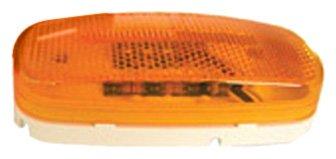 Peterson V180A Piranha Amber LED Oval Side Marker Light with Reflex