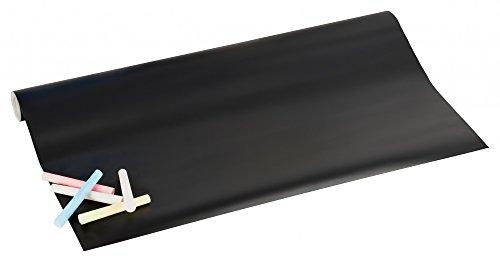 Tableau noir vinyle Autocollant Panneau Publicitaire Tableau mémo avec craie – 200 x 45 cm Kit pour beschriften