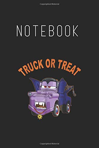 Notebook: Disney Pixar Cars 2 Mater Vampire Halloween Graphic Lined Notebook Journal for Kid Men and Women to Write in Blank Cover Arts Rule Lined ... Notebook 120 Pages to Write in Size Size 6x9