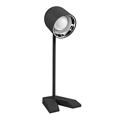 LED-bureaulamp met USB-oplaadpoort, USB-oplaadbare LED-oogbescherming Tafellamp, bureaulamp, oogverzorgend aanraaklampje voor slaapkamer Kantoor Jongens Meisjes Huistafel(Zwart)