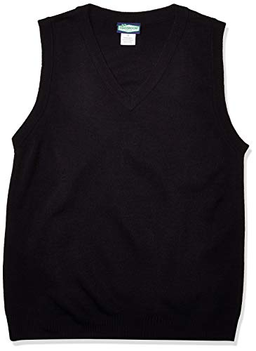 Classroom School Uniforms Men's Adult Unisex V-Neck Sweater Vest, Blue, Medium