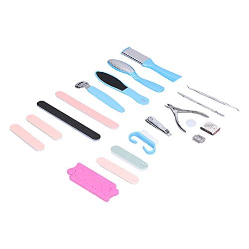 Crisist Removedor de uñas, práctico cortaúñas con Empuje de Acero para uñas para removedor de Piel Muerta para la mayoría de Las Personas