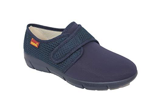 Zapatillas señora Licra cómodas con Velcro anatómicas y Flexibles (Numeric_40) ⭐