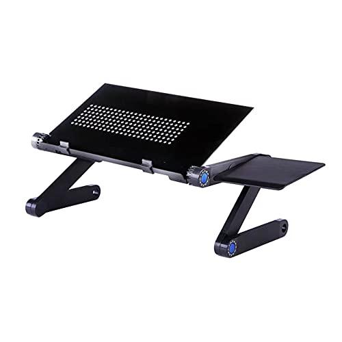 Yunyan Soporte para ordenador portátil ajustable y portátil con ventilador de refrigeración grande y alfombrilla para ratón