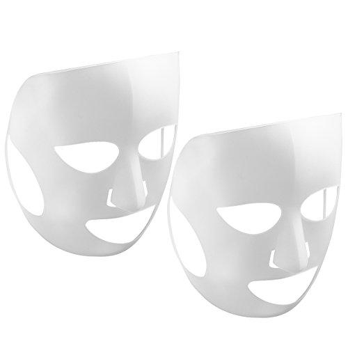 FRCOLOR Wiederverwendbare Silikon-Maske 2pcs Verhinderung der Verdunstung des Wesens der Masken-Dampf-Maske