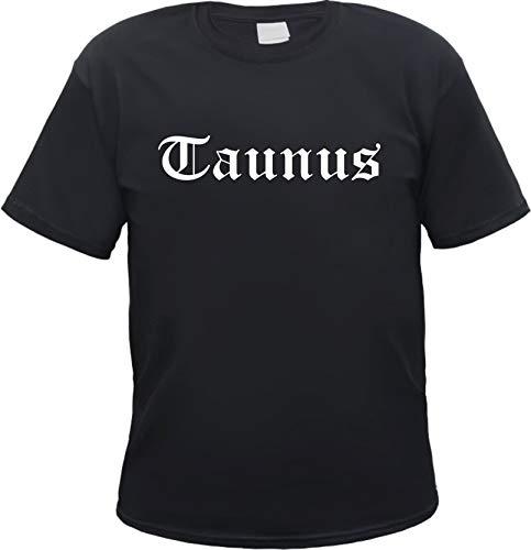 Taunus Herren T-Shirt - Altdeutsch - Tee Shirt L Schwarz