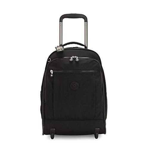 Kipling womens Gaze Large Rolling Backpack, black noir, One Size