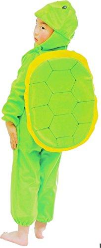 Fun Play - Disfraz de Tortuga para niños - Disfraz de Animal - Mono de una Pieza para Niños y Niñas - Disfraz para niños de 3-5 años (110cm)