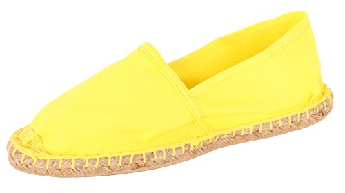 Sommerlatschen Espadrilles, gelb, vollgummiert, NEU, Unisex, SL1407, Größe 44