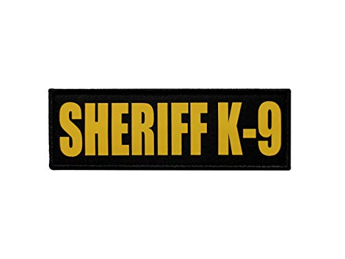 TIMTAC 6x2 inch Yellow Police Sheriff K9 Patch (6x2 inch, Yellow)