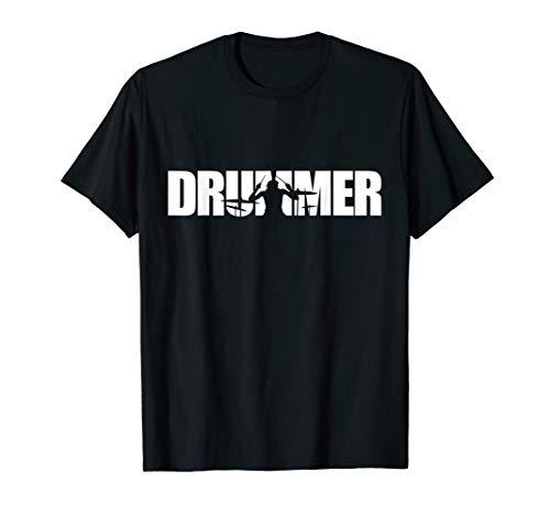 Drummer Design Schlagzeug und Trommler Schlagzeuger T-Shirt