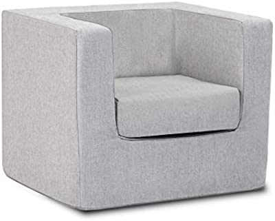 Monte Design Microsuede Cubino Kid's Chair (Ash/Ash)