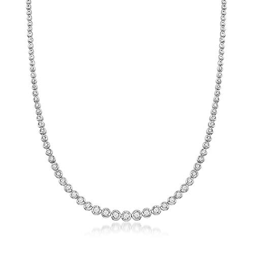 Ross-Simons 1.50 ct. t.w. Bezel-Set Diamond Necklace in Sterling Silver. 18 inches