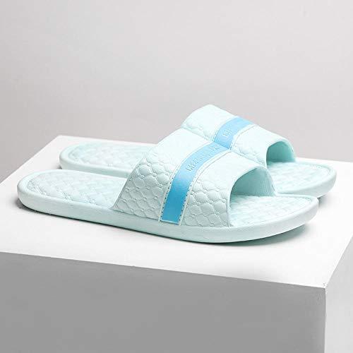 TDYSDYN Zapatos de Playa y Piscina,Zapatillas de baño Antideslizantes para Mujer, Sandalias y Pantuflas de plástico con Fondo Blando-Cielo Azul_38-39