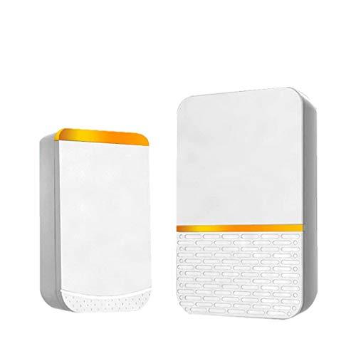 Witte draadloze deurbel met batterijen 45 songs tune 1 afstandsbediening 1 Wireless Home veiligheid Intelligente bellen Red