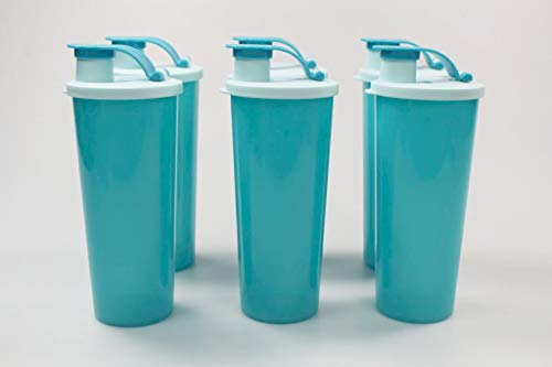 Tupperware To Go Eco 470 ml (6) Turquesa con Cierre de Clip 37918