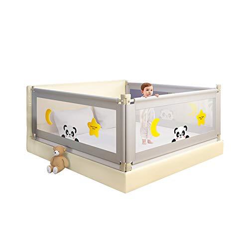 Bedhek voor peuters Dubbel slot Bed Vangrail, 1,2 m - 2,2 m Opvouwbaar Extra lang Veiligheid Verticaal heffen Baby Bejaarden Boxbeschermer Naadloze zijhek Anti-valbed Peuterbedbeschermingsrek