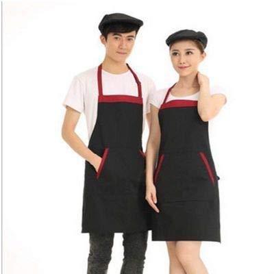 YLCJ Home 1 stuk Restaurant Waiter Hot Pot Shop Supermarkt Hangende Hals Mouwloos Werkkleding (Kleur: Zwart)