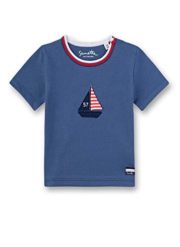 Sanetta Baby-Jungen Fiftyseven T-Shirt Langarmshirt, Blau (Ocean Blue 50315), 56 (Herstellergröße: 056)
