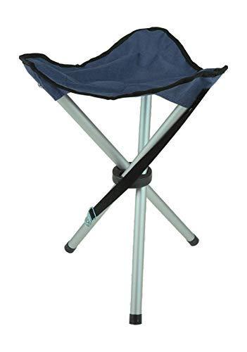 Unbekannt Anglerhocker Hocker Campinghocker Dreibein Camping Anglerstuhl Faltstuhl Stuhl, Farbe:blau