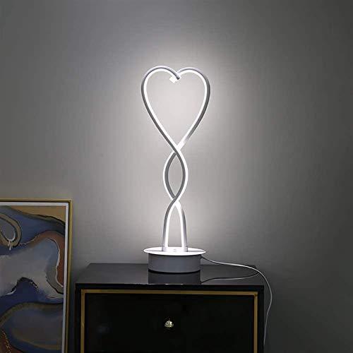 Lámpara de mesa clásica, moderna lámpara de mesa de resina grande con base de cristal K5, lámparas de mesa modernas para decoración del hogar, sala de estar, salón o hotel (color: luz blanca)