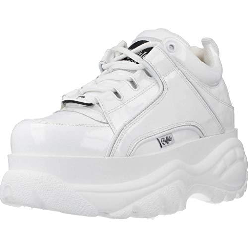 Buffalo London Damen, Unisex Sneaker Low weiß 37