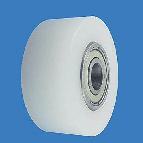 45 x 19 mm Bohrung 10 Kunststoffrolle Polyamid Doppelte Lagerung Paletten Fixierer Rad für Hubwagen Nylon Rolle Ø 45mm mit Kugellager