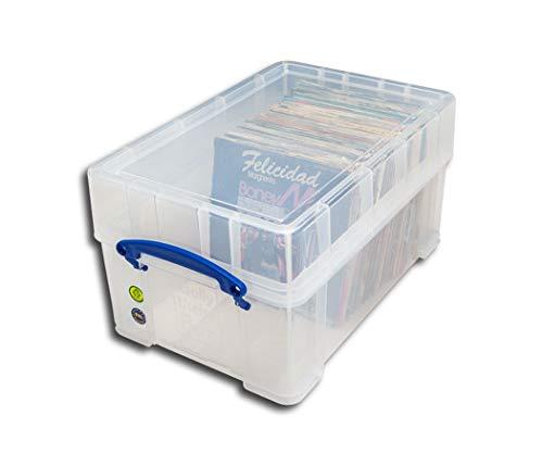 Single Schallplatten Box mit Deckel Protecetd
