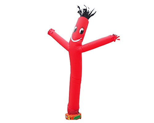 Air Tube Dancing House Sign Walker Fly Dancer Waving Puppet Man Inflatable Air Wind Flying 10Feet (Red)