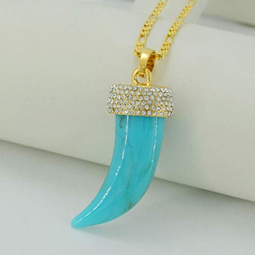 Colgantes de piedra y collares con oro de las mujeres y diamantes de imitación africano/árabe etíope joyería regalo #033106