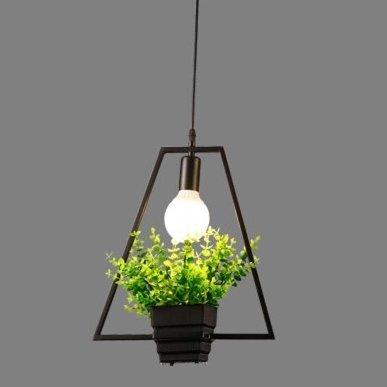 Luckyfree creatieve strijkijzeren kunst planten hanglamp kamer bar café restaurant keuken hal lampen plafondlamp kroonluchter, F+LED Dragon parels blaas