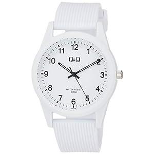 [シチズン Q&Q] 腕時計 アナログ 防水 ウレタンベルト VS40-006 ホワイト