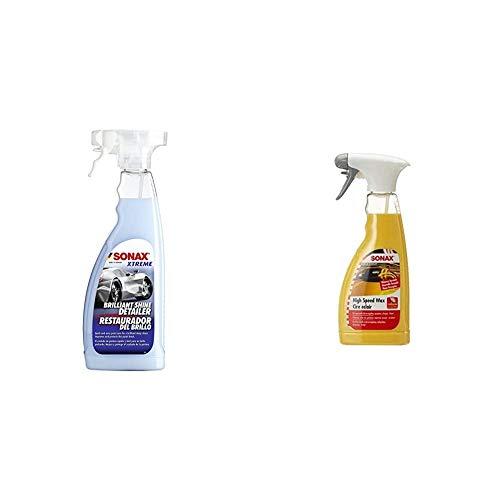 SONAX XTREME BrilliantShine Detailer (750 ml)schnelle, schonende und gründliche Lackpflege & HighSpeedWax (500 ml) blitzschnelle, hochwirksame Reinigungs- und Konservierungsemulsion für jeden Lacktyp