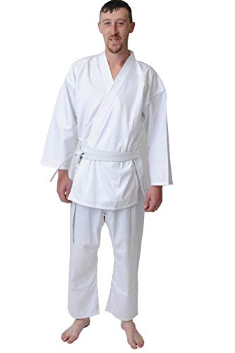 Altro Kids Adulti GI Karate Uniform in bianco nero reale e rosso Karate uniforme (1/140 cm, bianco)