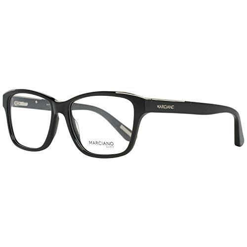 Guess GM0300 53001 by Marciano Brillengestelle GM0300 001 Rechteckig Brillengestelle 53, Schwarz