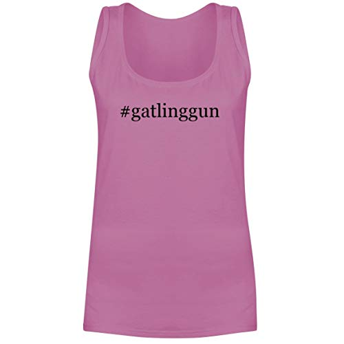 The Town Butler #gatlinggun - A Soft & Comfortable Hashtag Women's Tank Top, Pink, XX-Large