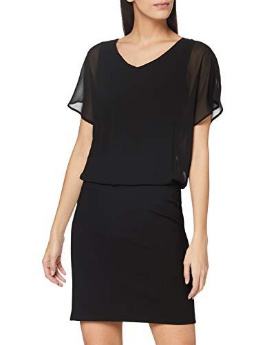 ESPRIT Recycelt: Chiffon-Kleid mit Jersey-Rock