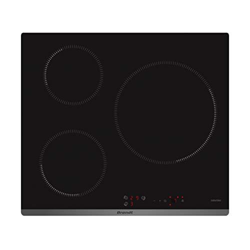 Brandt BPI6315B –Placa de cocina (integrada, inducción, vitrocerámica, negro, control táctil en la parte delantera)