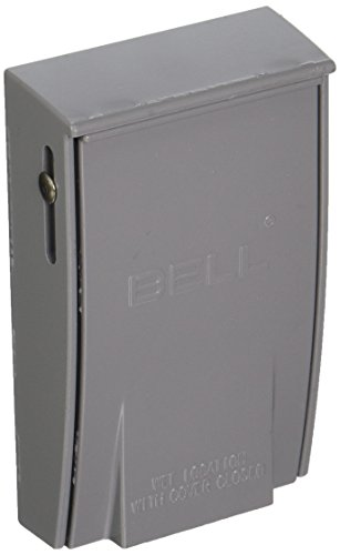 Hubbell-Bell 5030-0 Rayntite Weatherproof Cover, 2.15 in Dia X 4-1/2 in L X 2-3/4 in W, Gray, Grey
