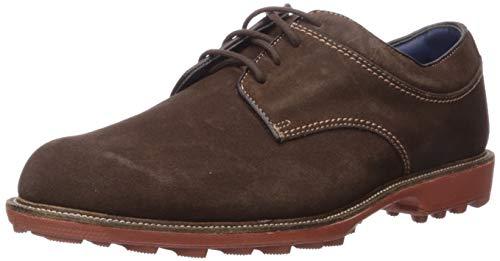 FootJoy Hombres Club Casuals-Zapatos de golf estilo temporada anterior, marr�n (Chocolate gamuza), 39.5 EU