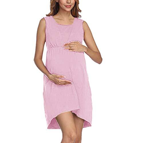 TTMall Vestito Premaman Elegante Abiti, Abito per Allattamento Premaman Cerimonia Vestito Donna...