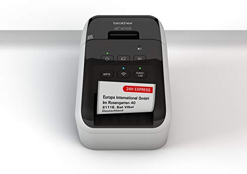 Brother QL-810W Wireless Label Printer with Red/Black Print, USB and Wi-Fi Interface, Auto Cutting Unit