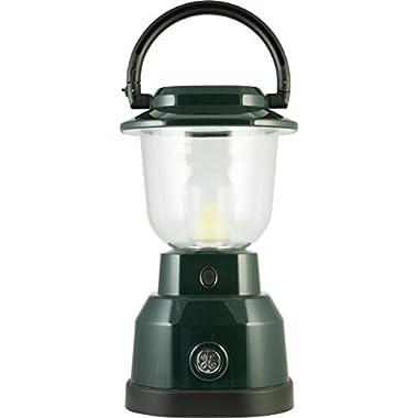 GE 4D Enbrighten Lantern, 500 Lumens, 180 Hrs Battery Life, IPX4 Water Resistant, Hunter Green, 11016