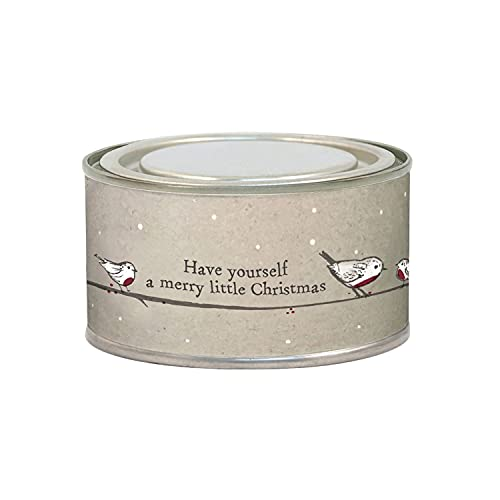 East of India Robin Design Scented Christmas Spice Candle