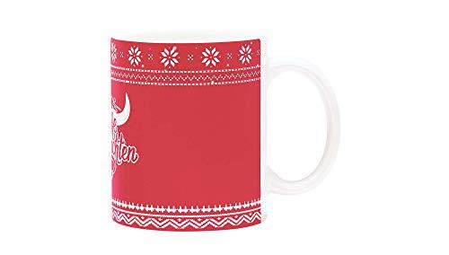 RB Leipzig Christmas Tasse, Rot Unisex One Size Becher, RasenBallsport Leipzig Sponsored by Red Bull, Original Bekleidung & Merchandise
